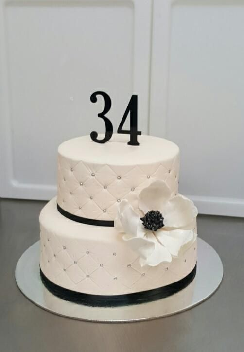 34th Birthday cake - Cake by Galyna Harb