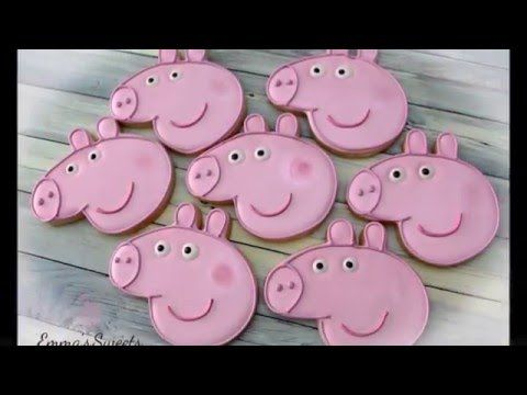 How to Decorate Peppa Pig Cookies by Emma's Sweets