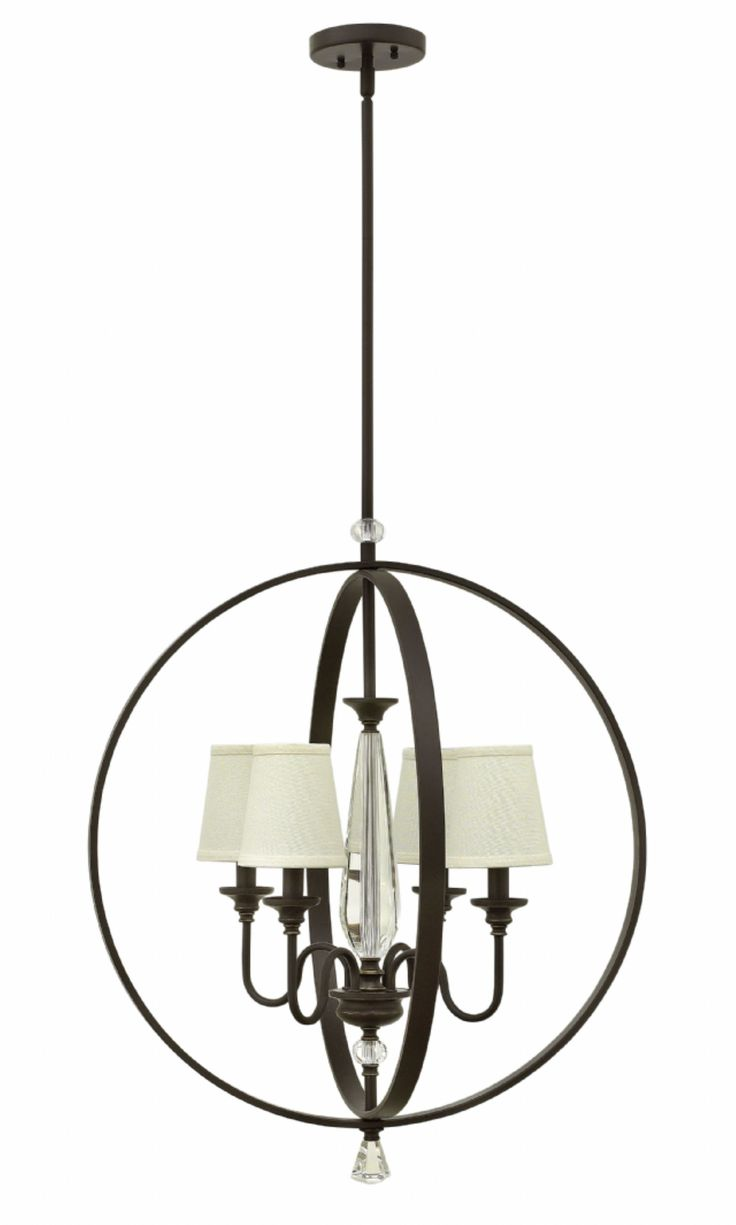 7 best orb lighting images on pinterest lights chandelier lamps hinkley lighting 4604 4 light 1 tier cage chandelier with white cone shades from oil rubbed bronze indoor lighting chandeliers arubaitofo Choice Image
