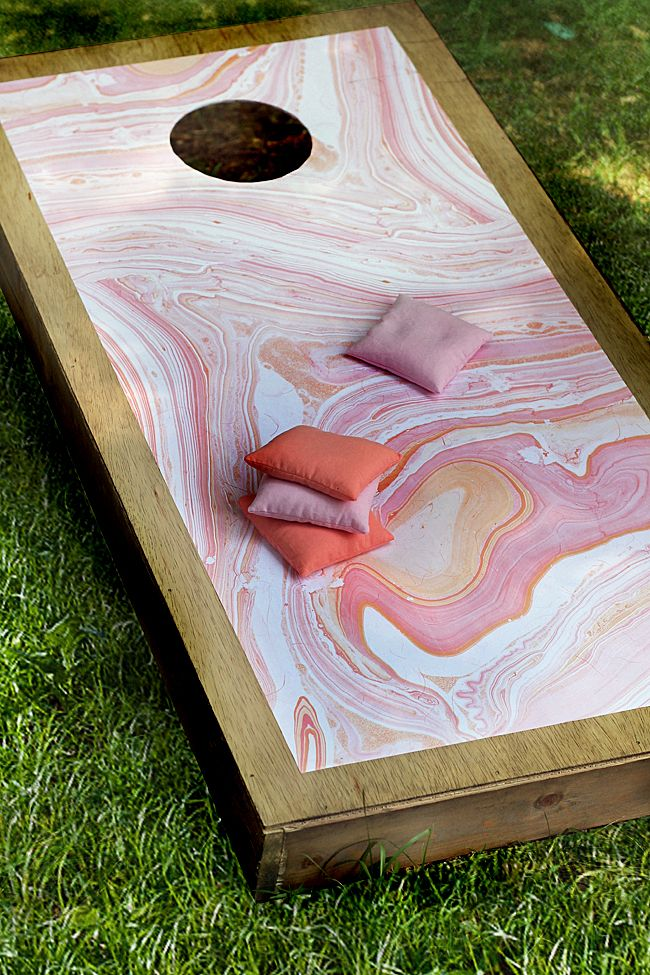Marbleized Corn Hole Boards