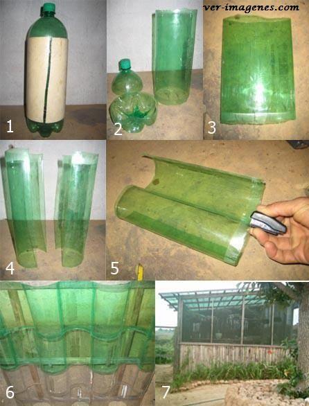 Tejas de botellas de plastico .