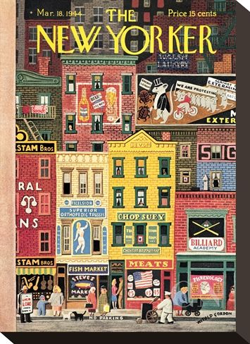 The New Yorker Cover - March 18, 1944 Poster Print by Witold Gordon at the Condé Nast Collection.