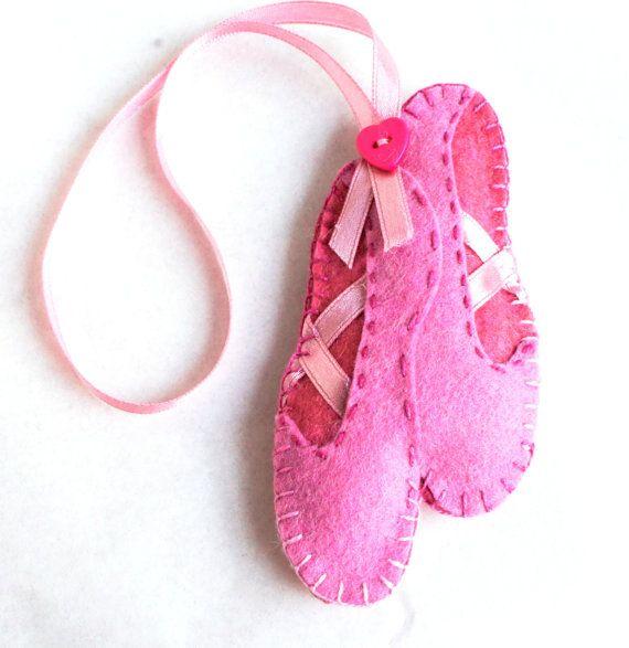 Ballettschuhe fühlte Ornament rosa Ballerina Schuhe