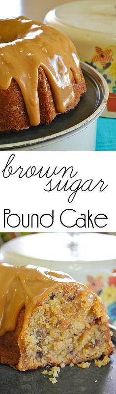 This Brown Sugar Pound Cake offers such WONDERFUL caramel flavor and is VERY moist.