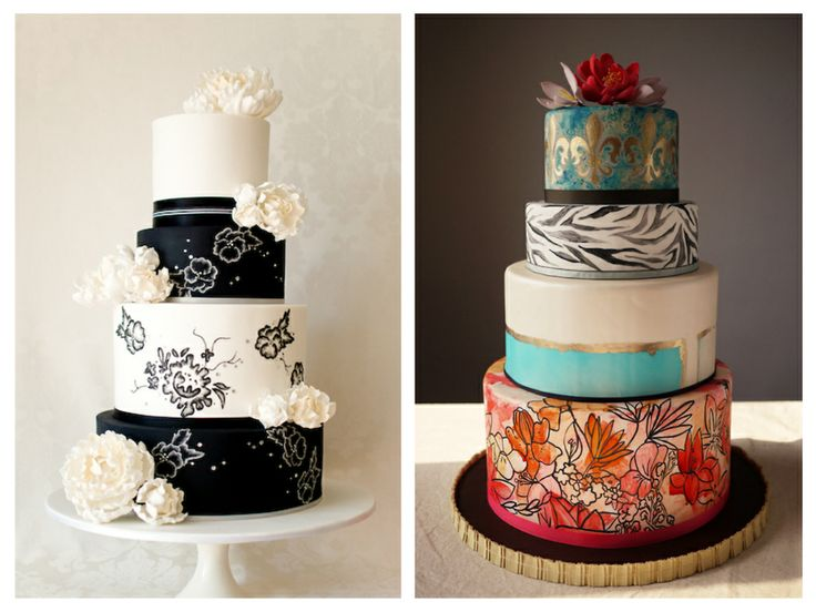 A Monique Affair: Adventures in Wedding and Event Design: Hand Painted Wedding Cakes