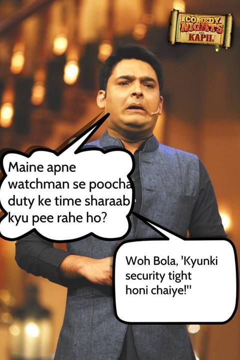 Kapil Sharma joke on Security