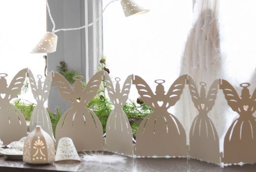 Decora o de natal led para mesa em forma de anjo branco - Decorazioni natalizie ikea 2017 ...