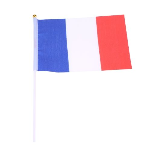 ANSELF 100pcs 2016 European Cup Olympic Games World Handheld Flag with Flagpole Flag for Euro 2016 International Day Sports Events Hand Flag Size 20 * 28cm