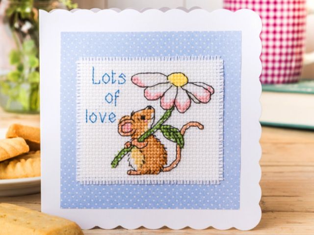 Little mouse card | Free Chart | Cross Stitching