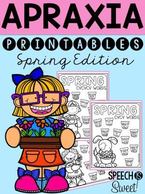 Spring apraxia activities!