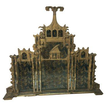 Check out this item at One Kings Lane! Chinese Chippendale Mirror / Headboard