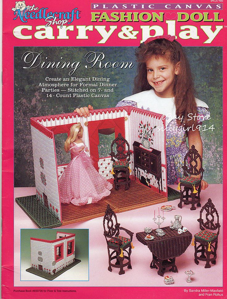 Dining Room Plastic Canvas Pattern Book Carry Play