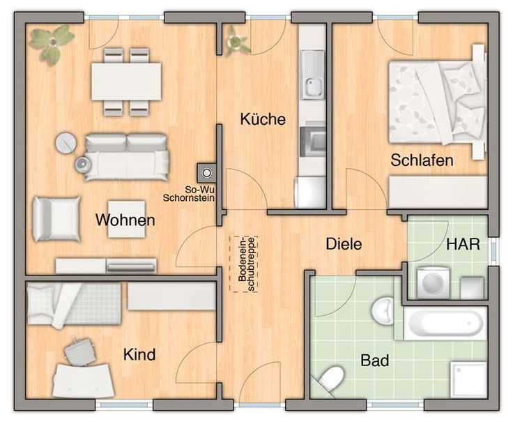 Die besten 25+ Moderner bungalow Ideen auf Pinterest Bungalows - badezimmer grundriss planen