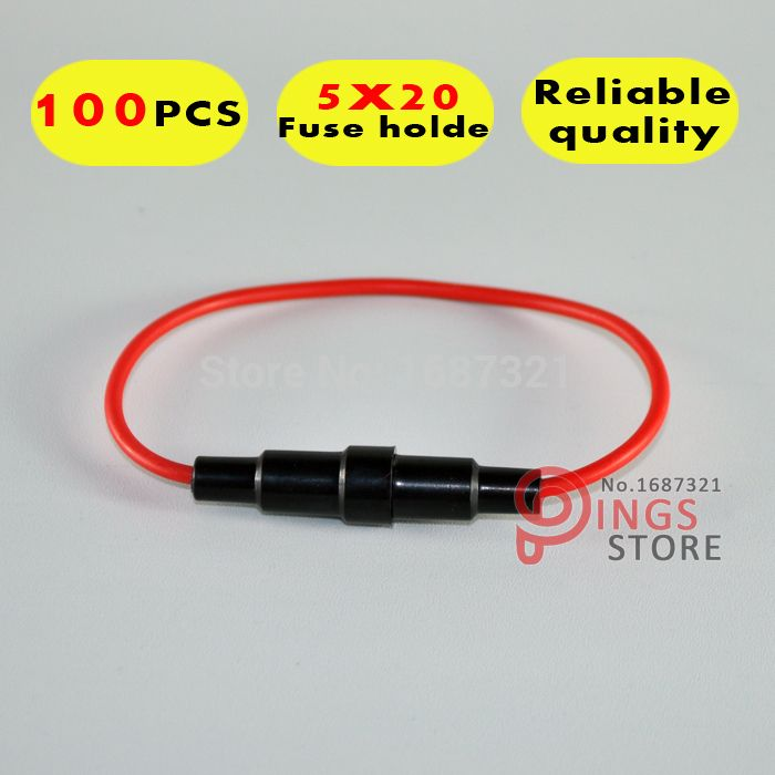 (100PCS) Auto fuse car In-Line waterproof auto Fuse Holder. automotive fuse holder , mini car holder