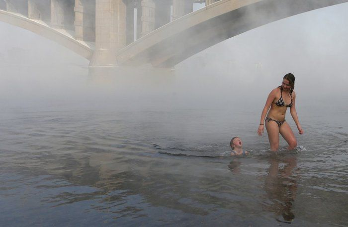 Χειμερινοί κολυμβητές στο παγωμένο περιβάλλον της Σιβηρίας