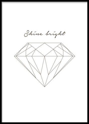 Shine like a diamond, julisteet ryhmässä Julisteet ja painokuvat / Koot / 30x40 cm @ Desenio AB (7988)