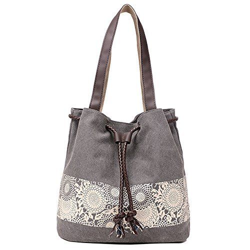 New Trending Shoulder Bags: Hiigoo Printing Canvas Shoulder Bag Retro Casual Handbags Messenger Bags (Grey). Hiigoo Printing Canvas Shoulder Bag Retro Casual Handbags Messenger Bags (Grey)  Special Offer: $19.98  344 Reviews Product Features: – Made of encryption and thicken canvas and real leather zips, classic and fashion. – Freely adjustable shoulder strap buckle, you can...
