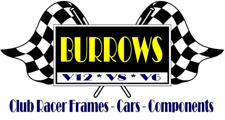 Burrows Cars, race frames for V12, V8, V6, components and accessories for the Club Racer.