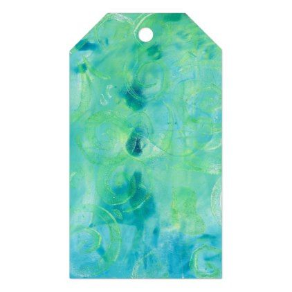 Monoprint Abstract 170267 Gift Tag - home gifts ideas decor special unique custom individual customized individualized