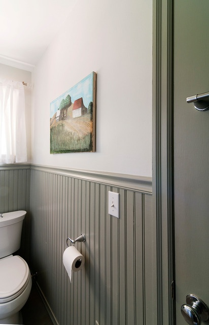 Frosty White Walls And Rare Gray Trim Wainscoting Twist On