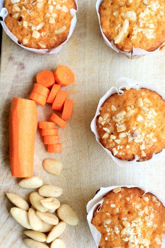 muffins carote mandorle e succo d'arancia