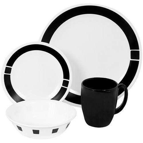 Corelle Livingware 16-Piece Dinnerware Set, Service for 4, Urban Black by Corelle, http://www.amazon.com/dp/B00025DYMY/ref=cm_sw_r_pi_dp_oajasb0EY9BWA
