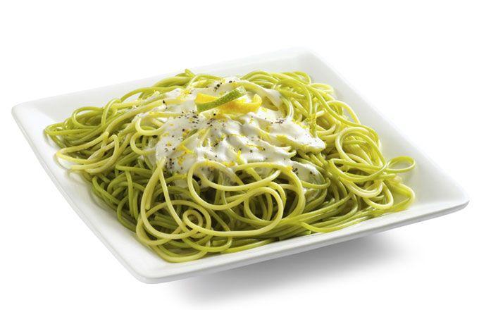 Pasta en salsa cremosa cítrica
