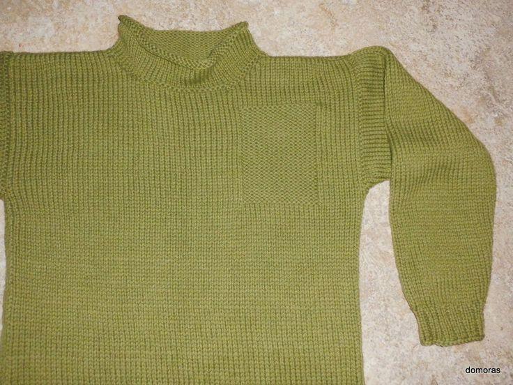 PARRINELLO, un maglione artigianale di lana pesante per uomo, tg. large (L)