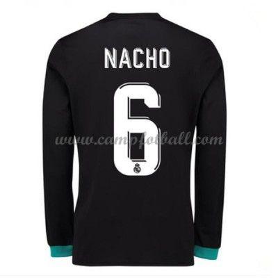 Real Madrid Fotballdrakter 2017-18 Nacho 6 Bortedrakt Langermet