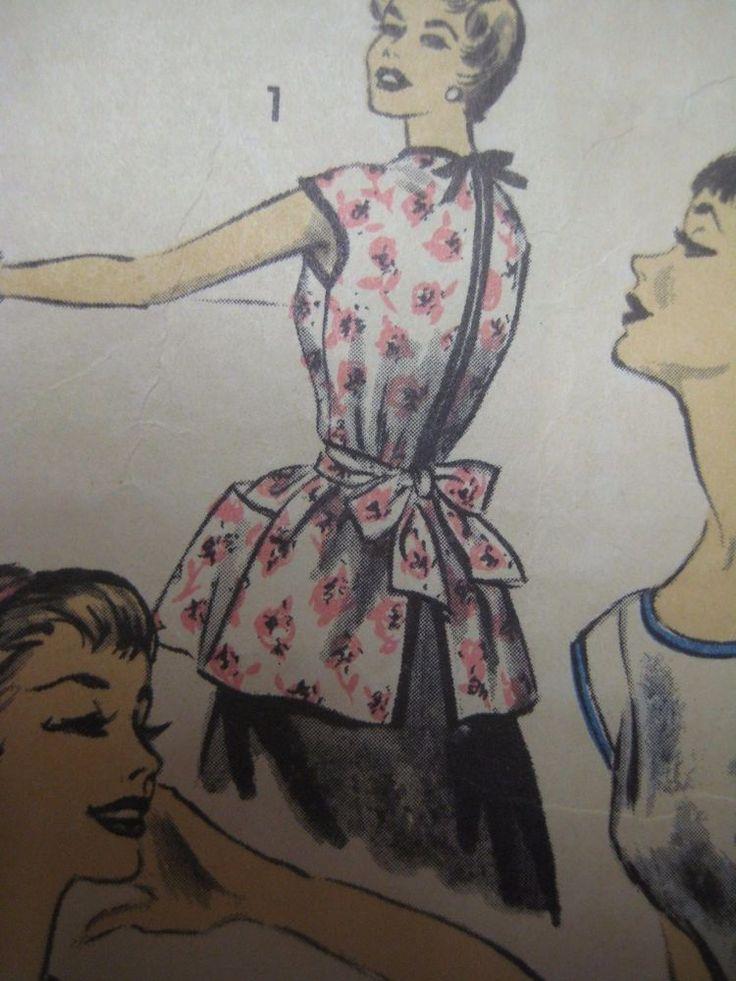 Vintage 60's Advance 7878 COBBLER APRON & PONCHO Sewing Pattern Women Small ~ <3 <3 <3 this pattern!