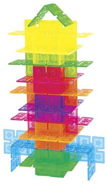 Guidecraft Translucent Plastic Panels Interlox - 75 Pieces - contemporary - Kids Toys And Games - Cymax