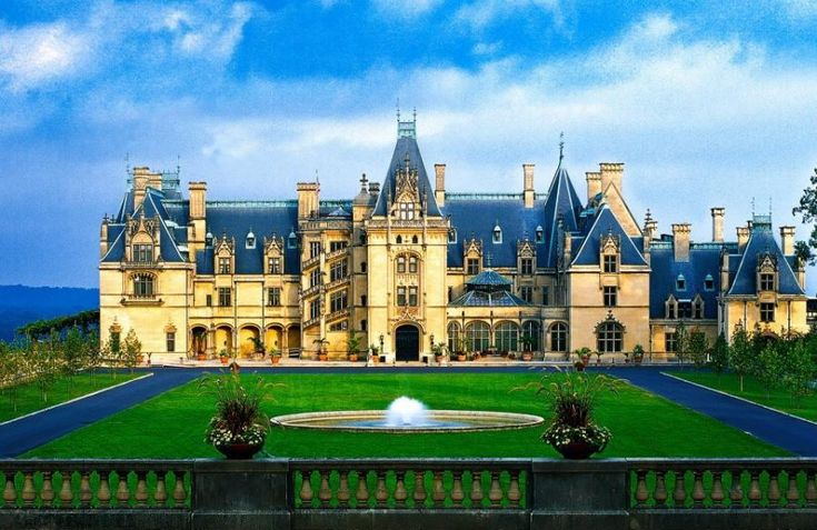 Biltmore Estates, Asheville, North Caroline. its basically a castle, and by that I mean a HUGE mansion.