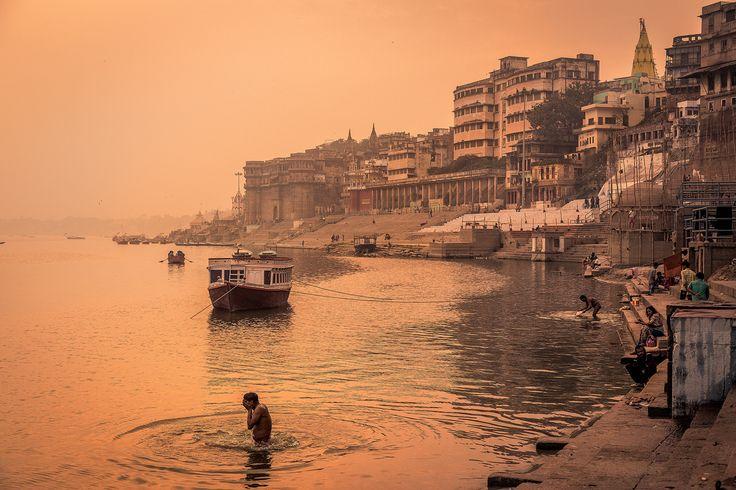 River Prayers - River Ganges - Varanasi, Uttar Pradesh, India.  <a…
