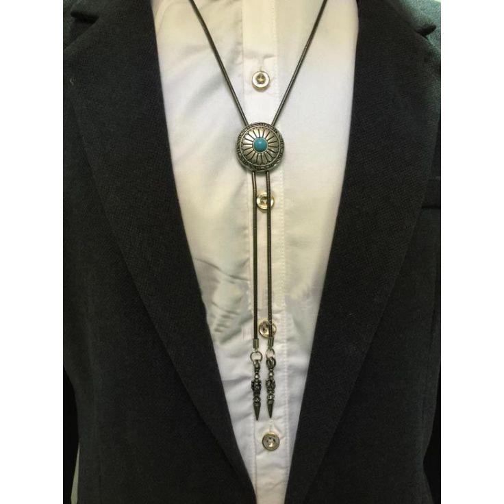 Fashion classical mens bolo tie Wedding Tie Retro metal chain