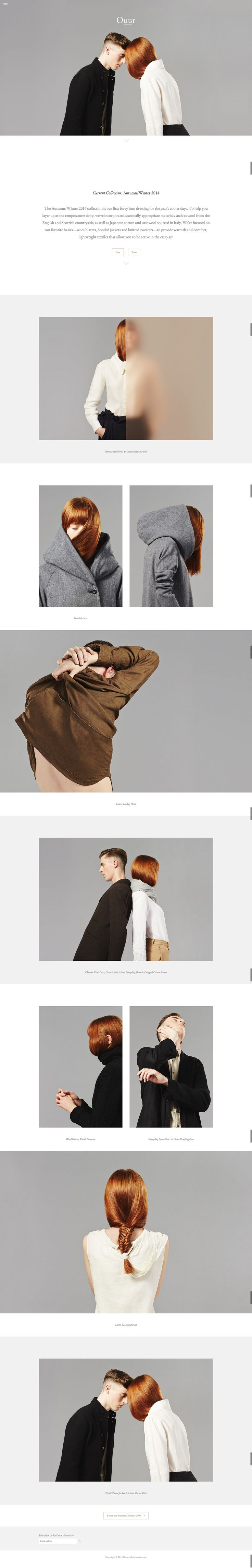 http://www.ouurcollection.com/ layout, photo display