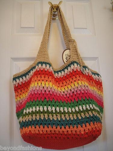 The Sak Multicolor Crochet Messenger Crossbody Purse Shoulder Bag $59 00   eBay