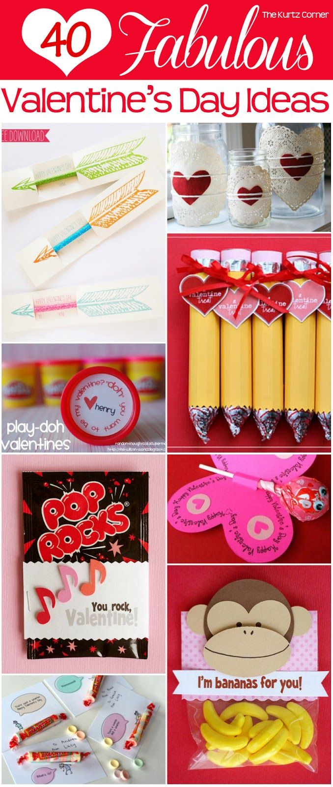 From candy to cards, there's something on this list for all of your loved ones. | 40 Fabulous DIY Valentine's Day Ideas