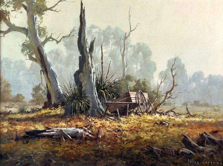 'Morning Mist Amongst the Gums, Adelaide Hills'