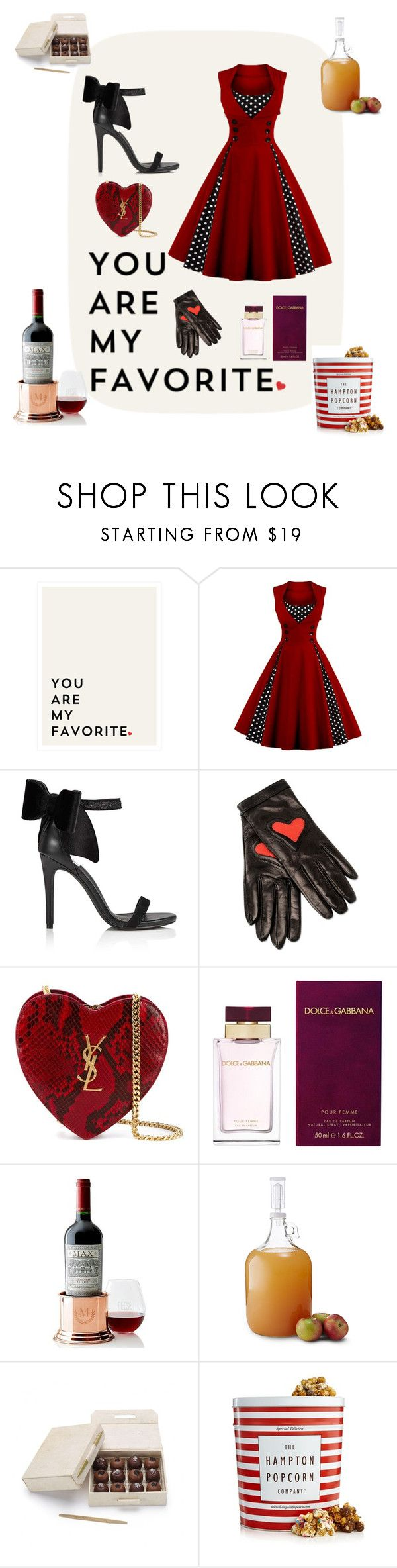 """""""it's de-lovely"""" by dadi13 ❤ liked on Polyvore featuring Miss Selfridge, Boutique Moschino, Yves Saint Laurent, Dolce&Gabbana, Mark & Graham, Brooklyn Brew Shop and The Hampton Popcorn Company"""