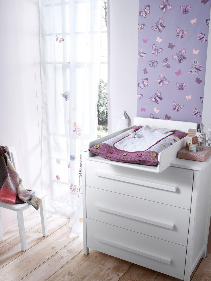 Matelas à langer bébé et sa housse thème Graphic flor, #Chambre Bébé  collec