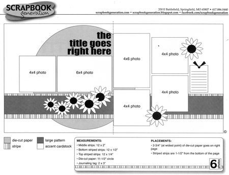 Scrapbook Sketches With Measurements   So you can get a feel for how the sketches are laid out and how easy ...