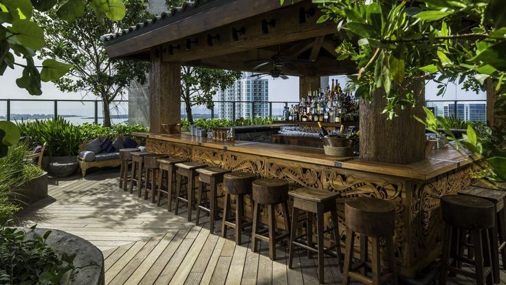 Miami summer is around the corner, meaning blistering temperatures and soup-like humidity. Heading to the roof isn't a bad remedy, with a cold drink in hand and a calming breeze sweeping from the ocean or bay at your back.