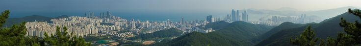 #Gwangan and #Haeundae area #Busan city panorama, #SouthKorea - see more panoramas at www.asiatiq.com