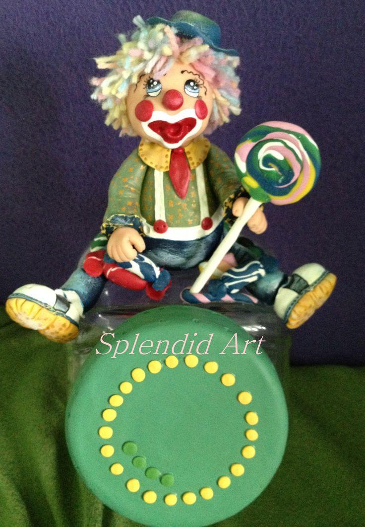 Borcan decorat pentru dulciuri