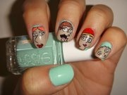 Essie - Mint Candy Apple  Family Guy! Left to Right:  Lois Griffin, Peter Griffin, Meg Griffin, and Stewie Griffin
