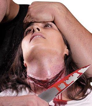 slit throat prosthetic kit - halloween makeup Heres a good one.. ear to ear .. LOVE IT
