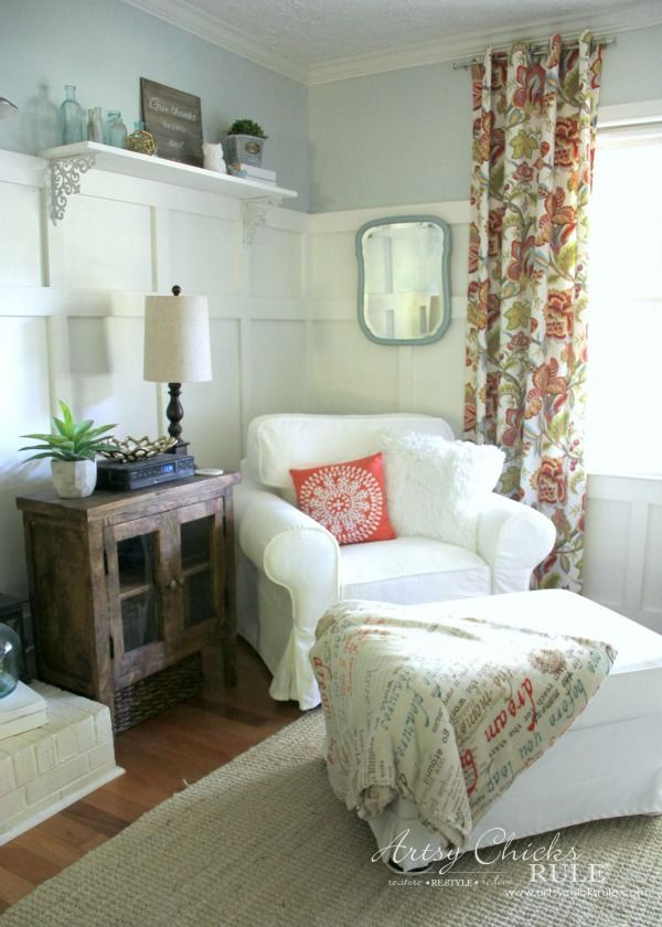 So much fun in the family room with my IKEA Ektorp makeover....new paint and more!!!