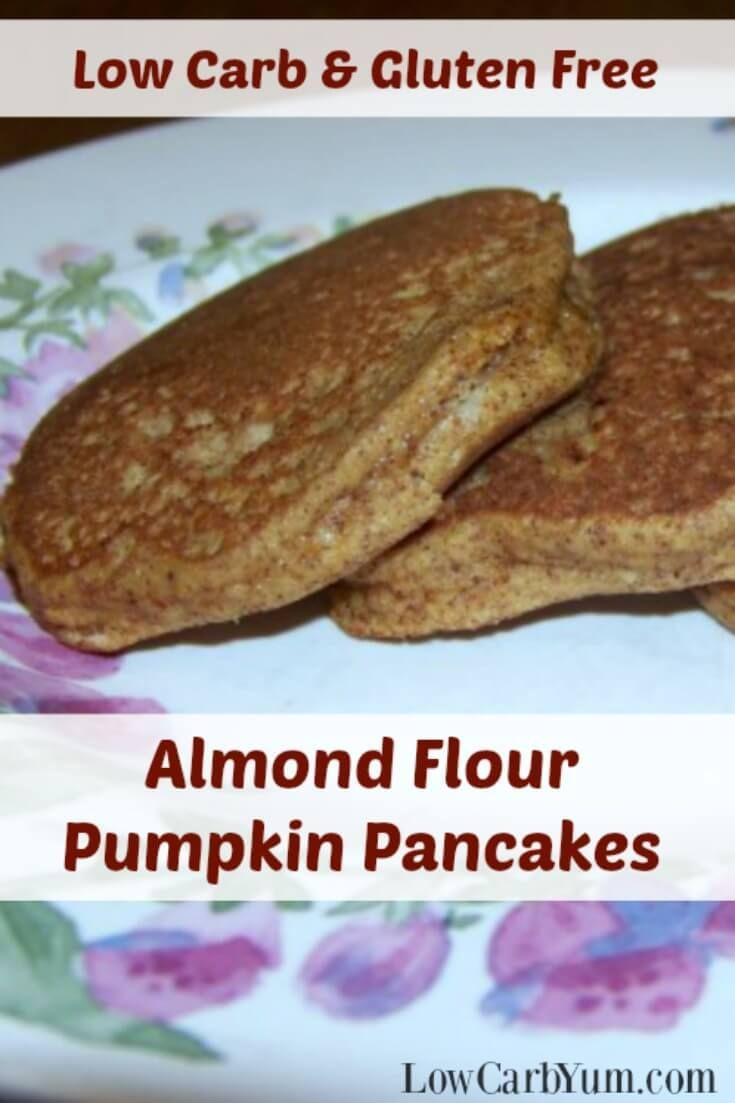 Need a recipe to use up leftover canned pumpkin? These gluten free low carb pumpkin pancakes made with almond flour are a nice breakfast treat.   http://LowCarbYum.com via /lowcarbyum/