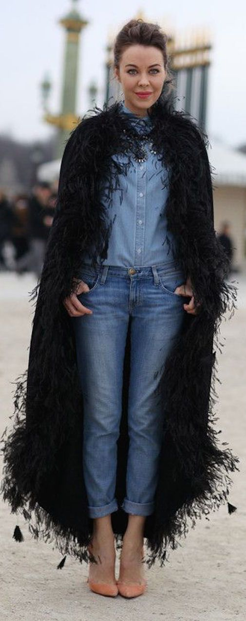 Ulyana Sergeenko - denim on denim. ❤️