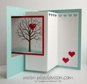 Anleitung für eine liebevolle Pop-Out-Swing-Karte #stampinup #Baum #Bäume #Karte #Liebe #Popoutswing #pop #out #swing #Stanze #stanzen #Herz #Freundschaft #3D